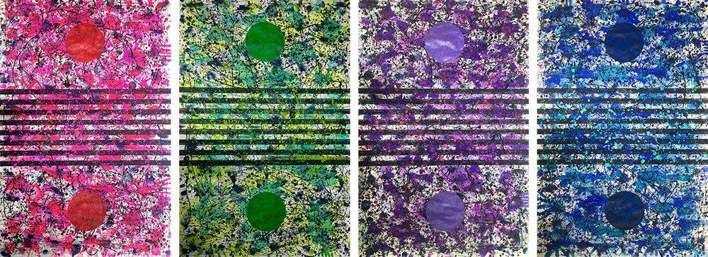California Dreaming Quadriptych (Spring, Summer, Fall, Winter), 2014