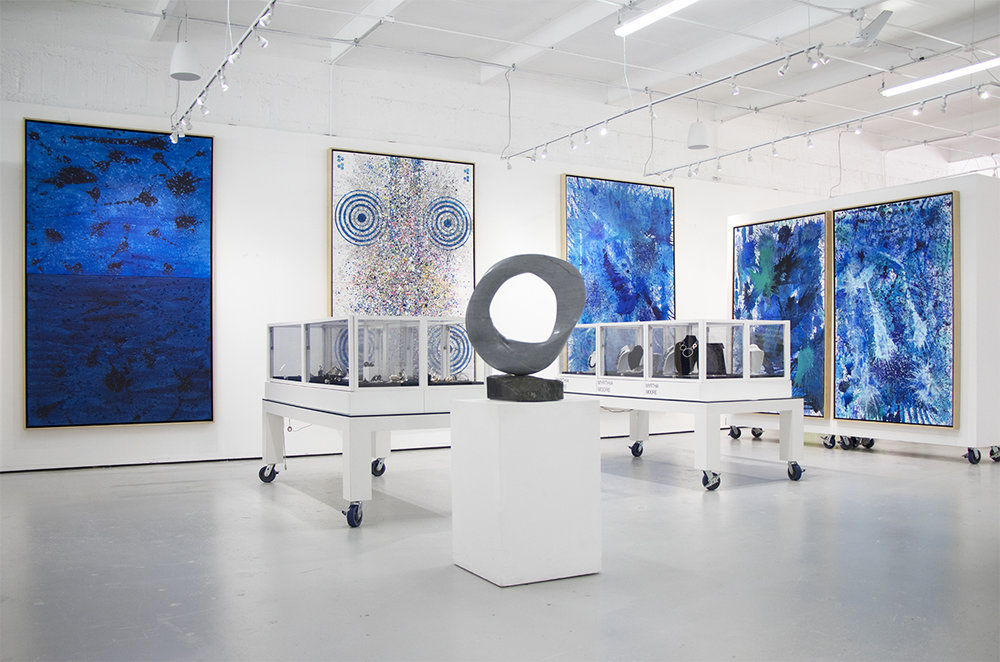 Interior view of Manolis Projects. The gallery and studio of J. Steven Manolis located in Miami, Florida.