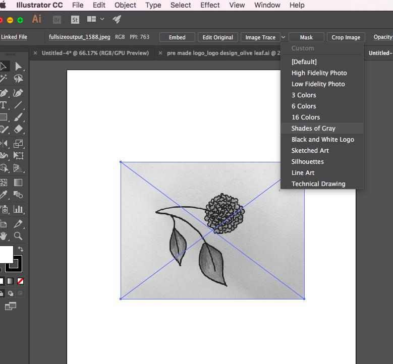 image trace on illustrator | logo design | designed by Jess