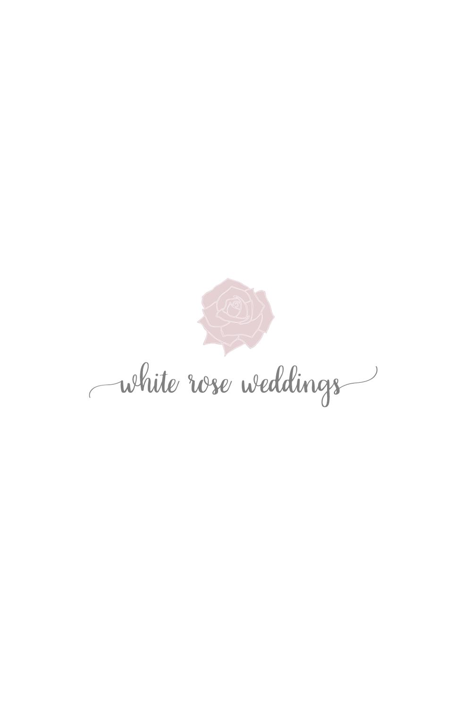 pre made logo | white rose wedding designed by Jess