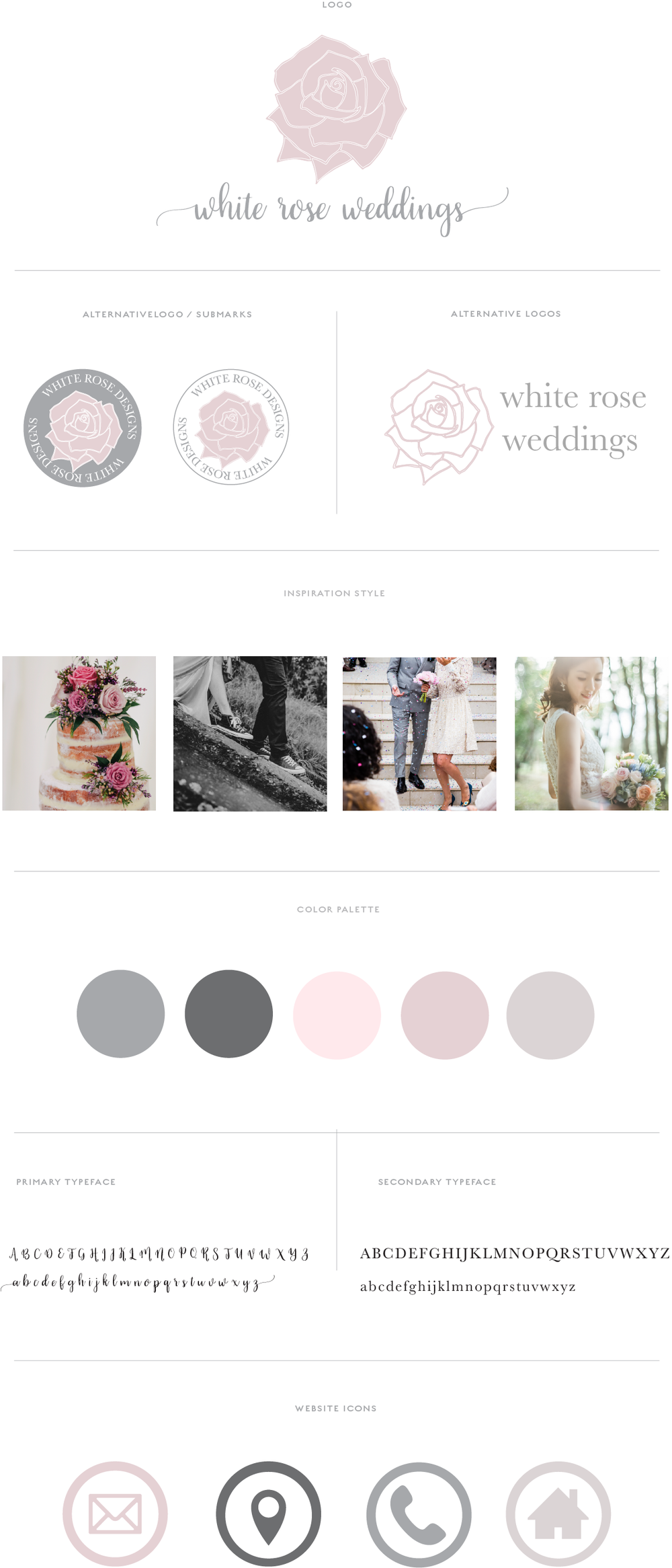 White Rose Brand Board | Brand package with pre made logo designed by Jess