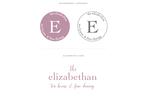 Brand Board Design - Pre Made Logo - Watermarks and Alternative Logo The Elizabethan