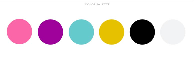 Colour Palette - Designed by Jess - Bow and Ties Events
