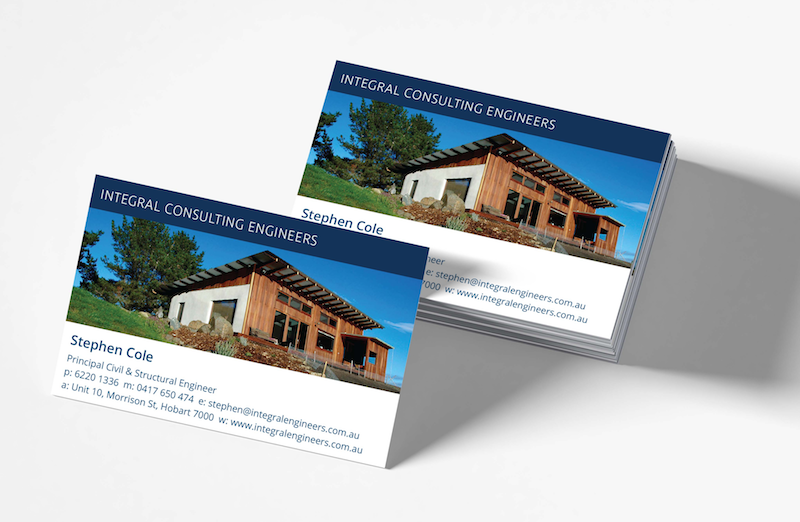 Integral Consulting Engineers Business Cards graphic design coffs harbour