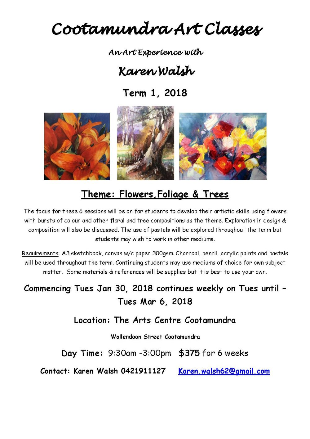 Art Experience  flyer Cootamundra Term 1 2018  Flowers and Folage.jpg