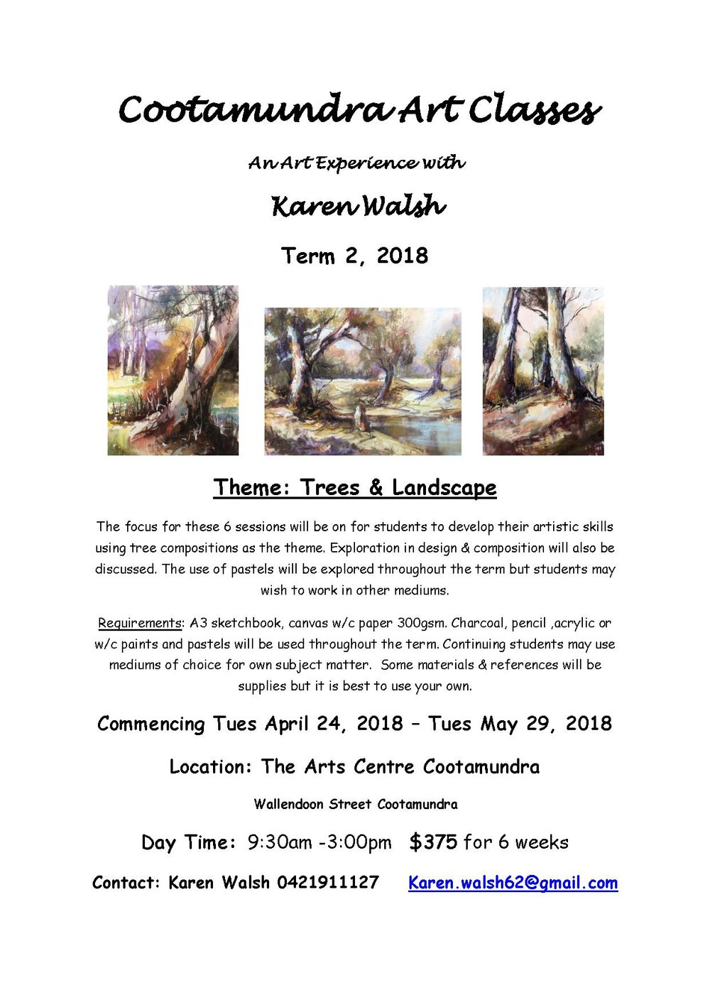 2018 term 2 Art Experience  flyer Cootamundra  Trees.jpg