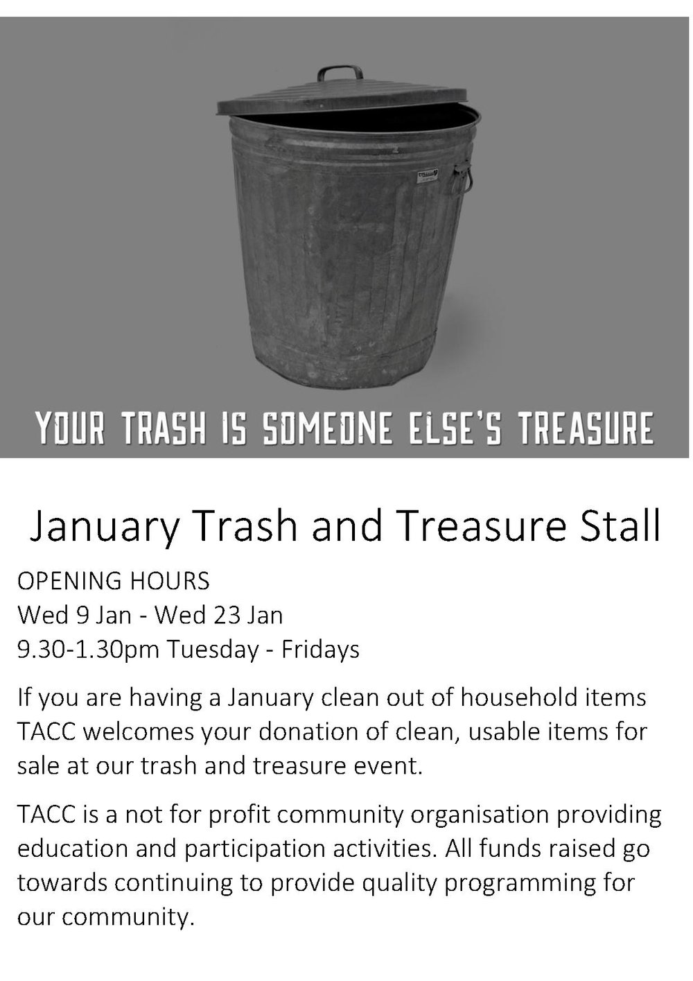 January 2019 Trash and Treasure Stall no logo.jpg