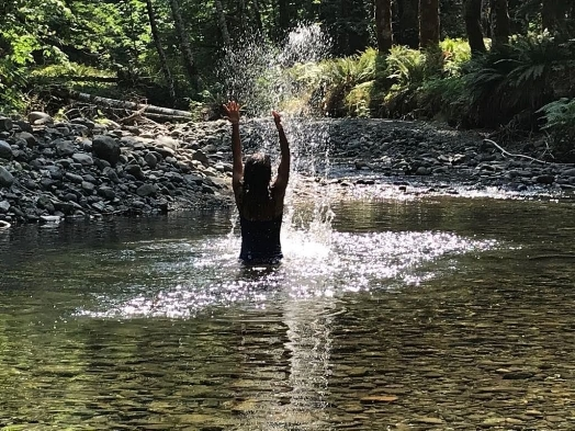 An Art escape I took this summer on the Cowichan River (traditional territory of the Coast Salish People).