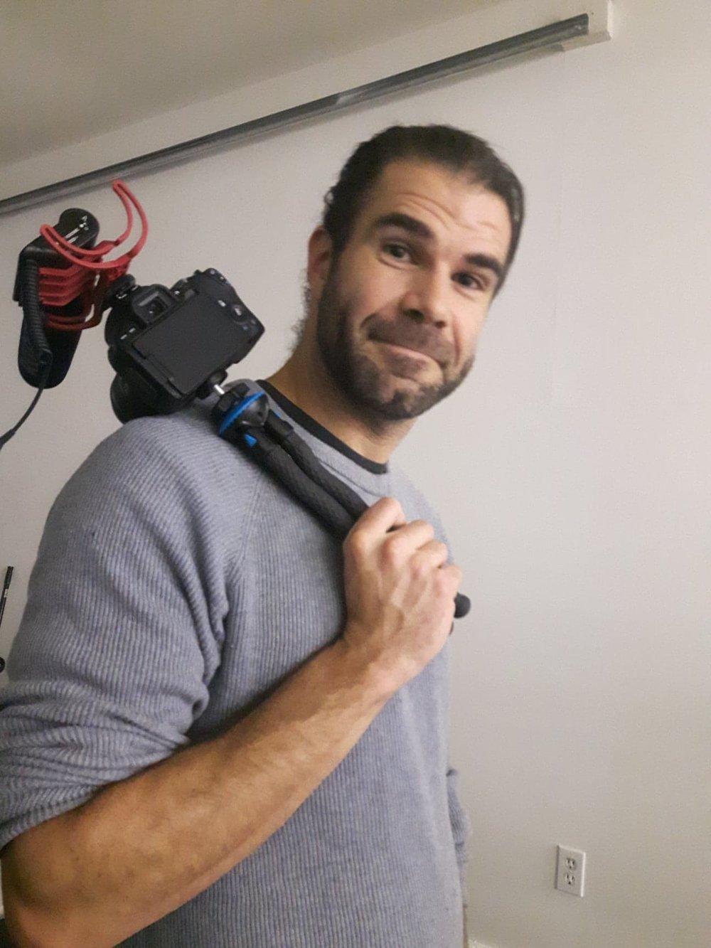 Josh, camera operator extraordinaire.