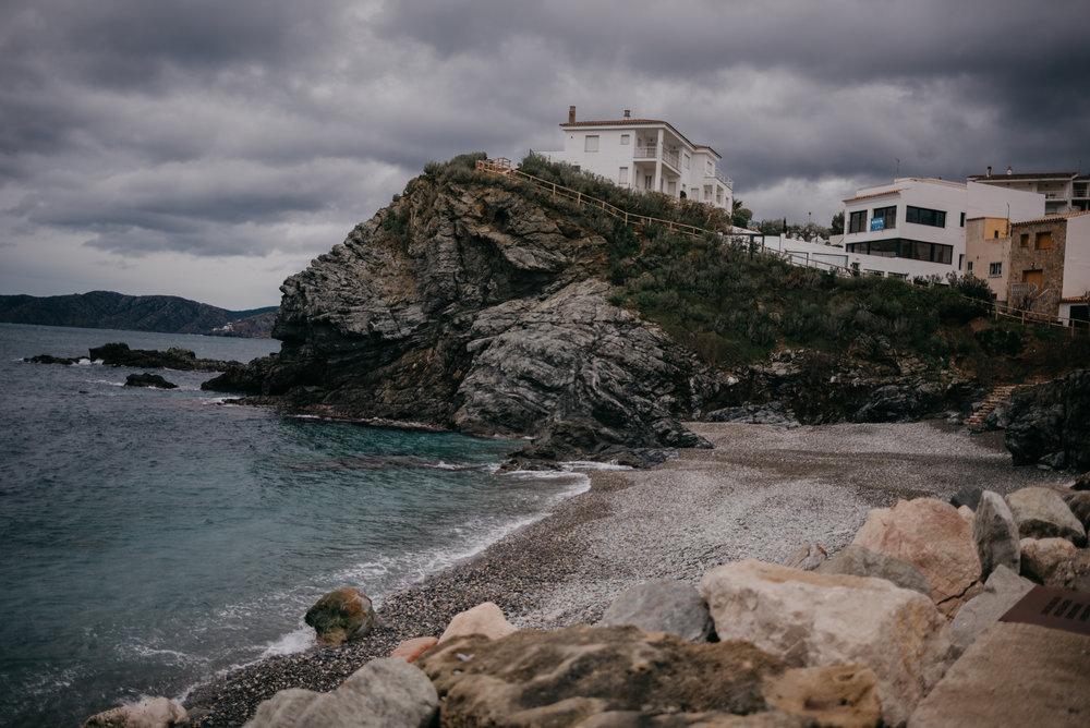Along the coast in Llanca, Spain.