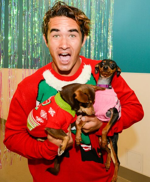 Facebook Live: Ugly Christmas Sweater Day  - Influencers and animal activists celebrated National Ugly Christmas Sweater Day with shelter pets on Facebook Live in efforts to find them all a home for the holidays.
