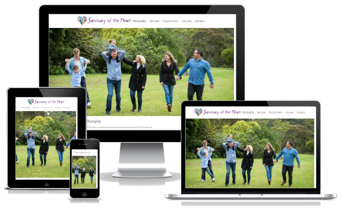 "Sanctuary of the Heart - Responsive Website Design, Content Marketing, Business in Control.""Kieren brought our website to life with so much knowledge and ease. We had tried numerous ways to develop our website unsuccessfully over the past 2 years. It was so refreshing to have someone listen to what we wanted in our website. The website looks amazing and Kieren's follow-up service and support has been second to none."" Michele and Stephen"