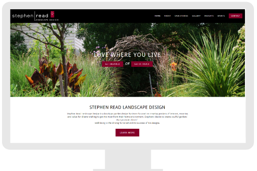 Small business website for Landscape Designer