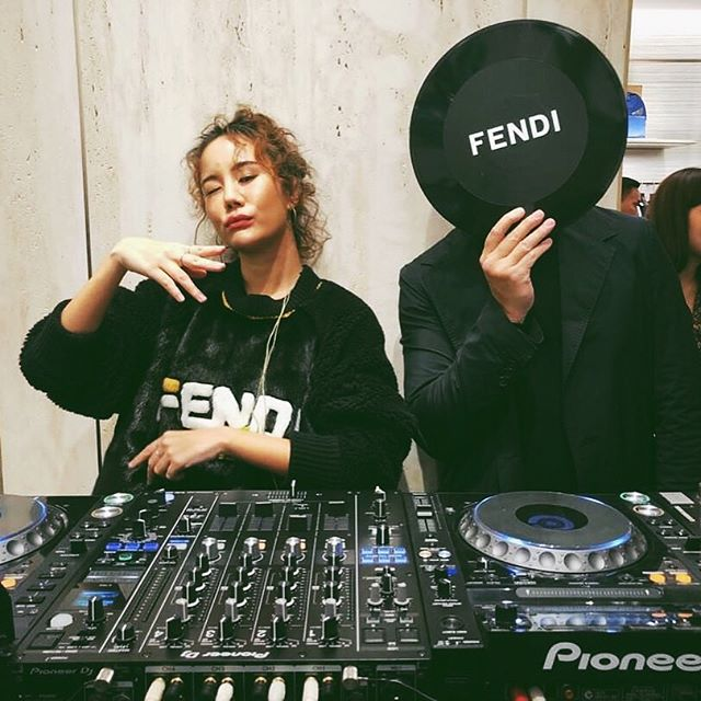 On duty spinning for @fendi last week with P @kklarn 🚀💥