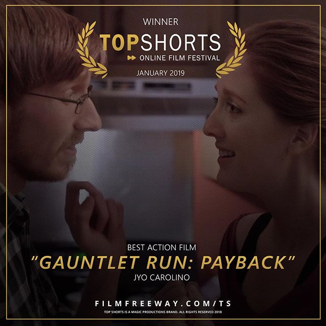 GAUNTLET RUN: Payback comes away with Best Action Film at Top Shorts! Dope work from all the cast and crew, and it shows!  #filmlife #filmfest #topshorts #choose901 #memphis #actionmovie #welcometothegauntlet #warriorwednesday