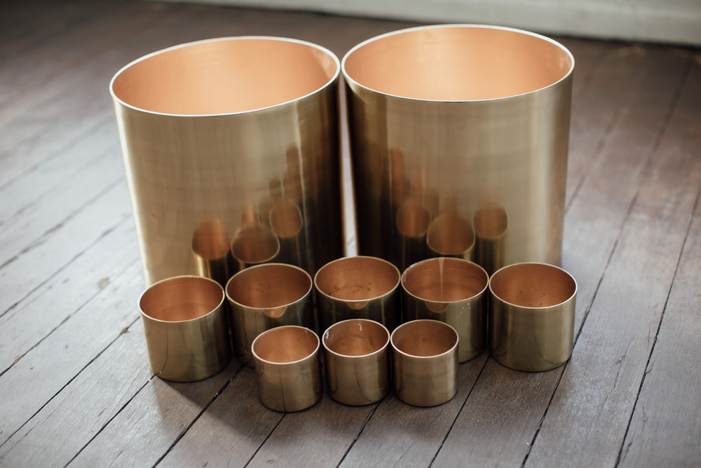 golden cup styling kit - 50 x small cylinders & 4 x large cylinders - $660.00 - or $10.00 each for small & $40.00 each for large.