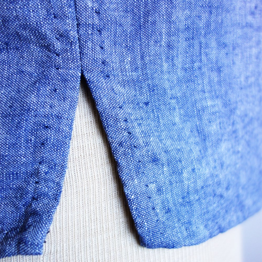 Side seam detail - I like the small hand stitches that are just visable