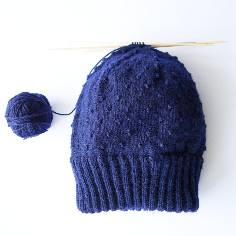 Diode hat in progress.JPG
