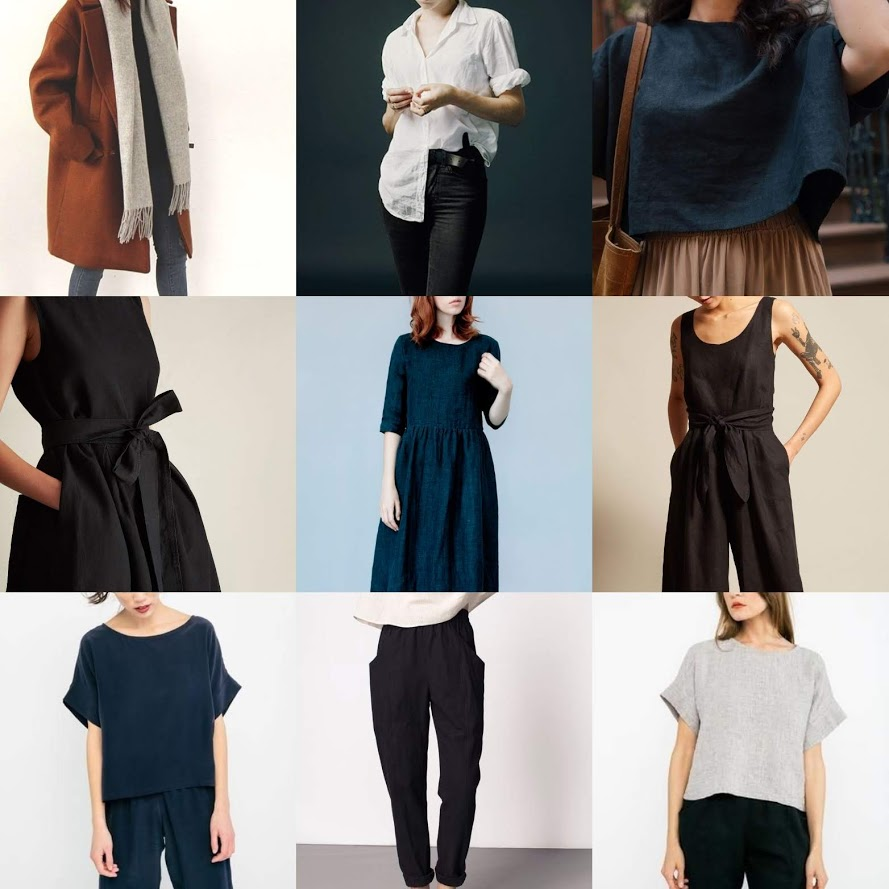 My inspiration mood board created in response to the first Slow Fashion October prompt - this was a great exercise which helped me clarify the kinds of garments I want to be making.
