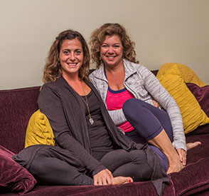 Maura and Kerri  - Owners of Yoga Home