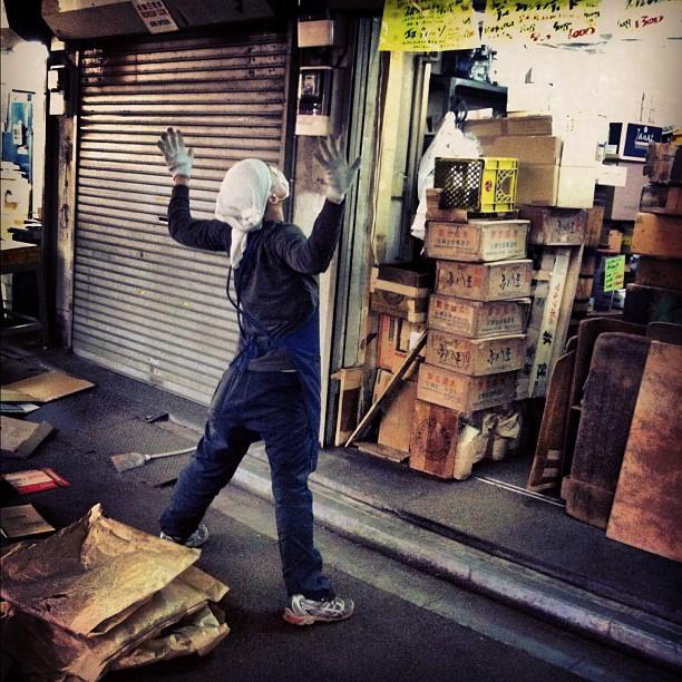 Tokyo street stretcher