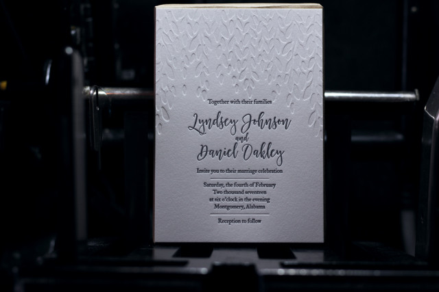 letterpress wedding announcements