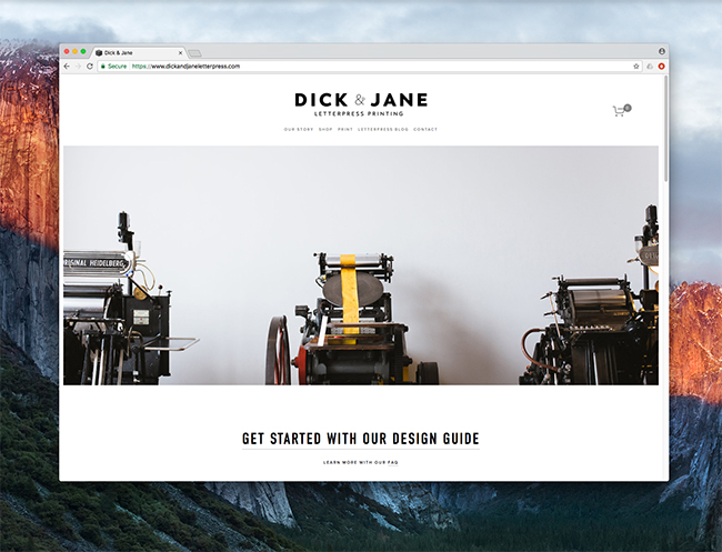 letterpress website