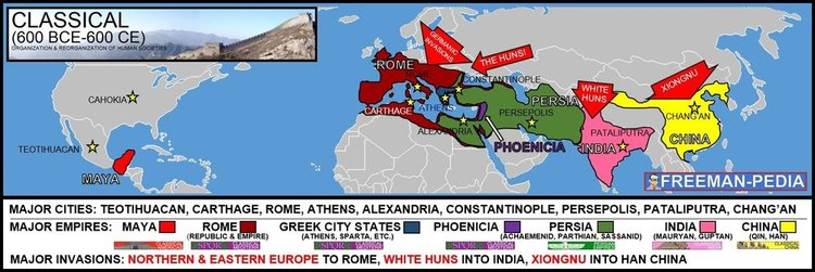 Unit ii the classical era 600 bce to 600 ce room 13 classical era trade routes by 600 ce gumiabroncs Choice Image