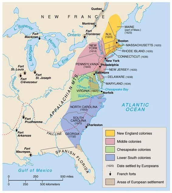 APUSH Unit II Colonial America 1607 to 1754  Room 13