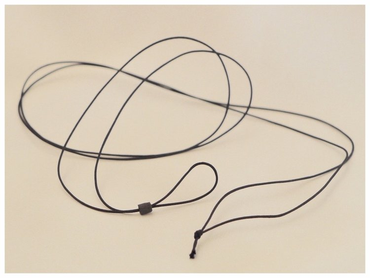 black monocle cord.
