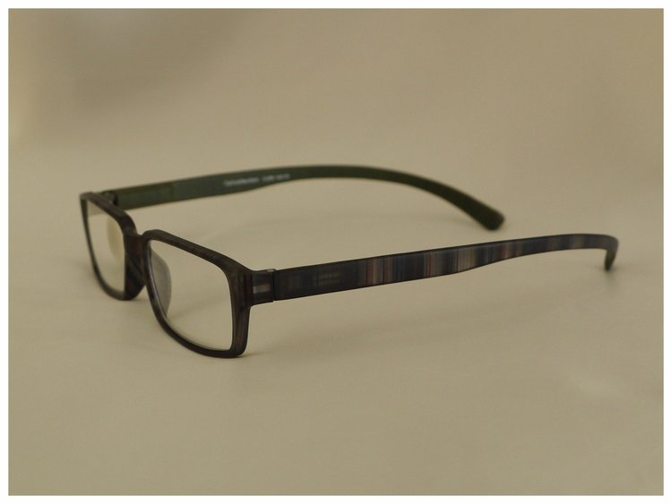 pair of reading glasses with long arm/temple length