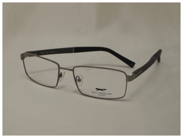 men's pair of silver reading glasses
