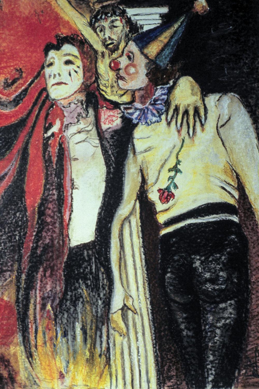 The Joker, 24 x 18 Pastel on Paper, 1977