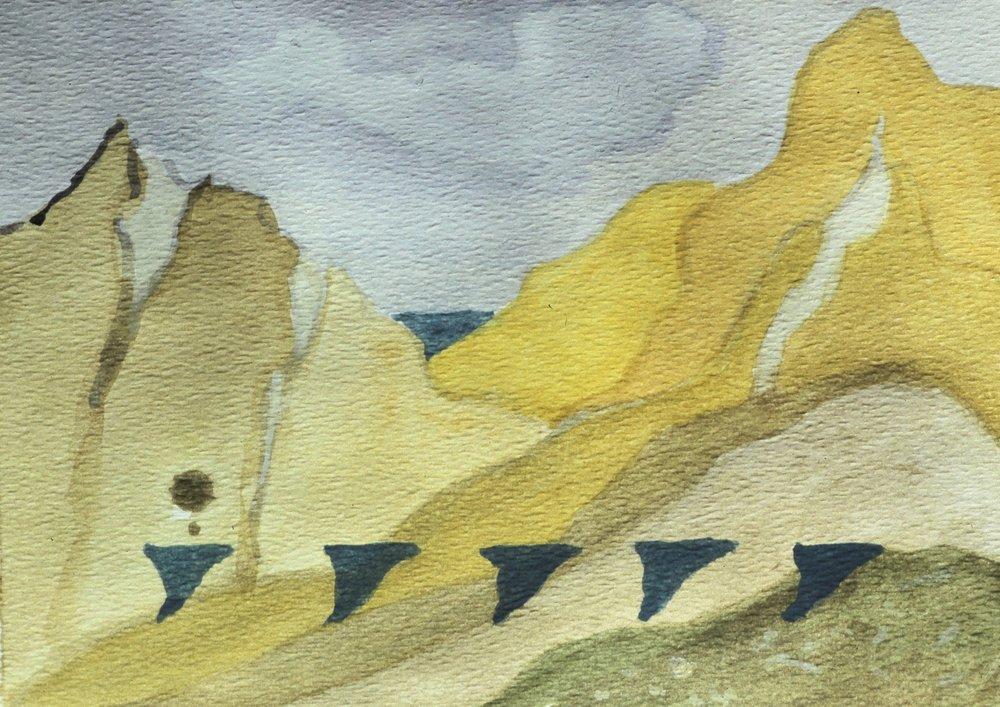 Tahitian Watercolor 1, 5 x 7, 1980