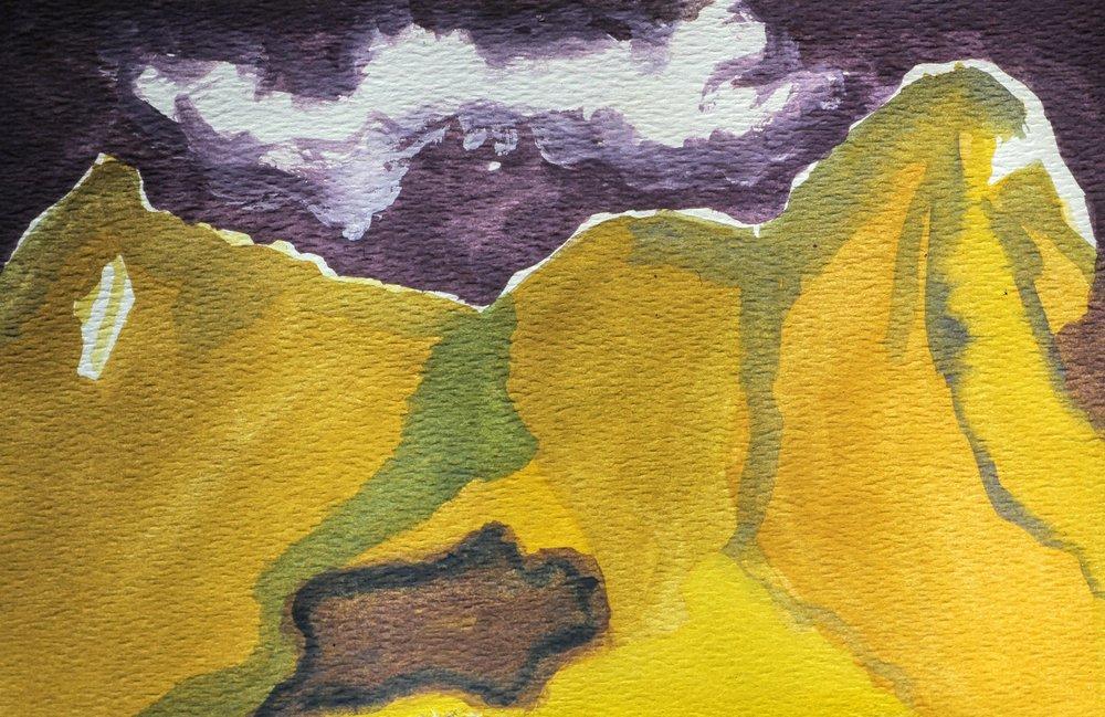 Tahitian Watercolor 2, 5 x 7, 1980