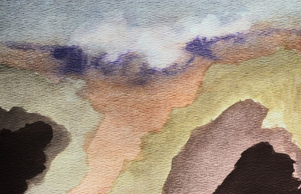 Tahitian Watercolor 3, 5 x 7, 1980