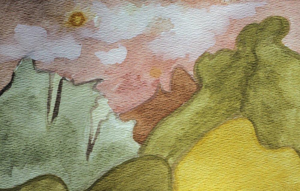 Tahitian Watercolor 4, 5 x 7, 1980