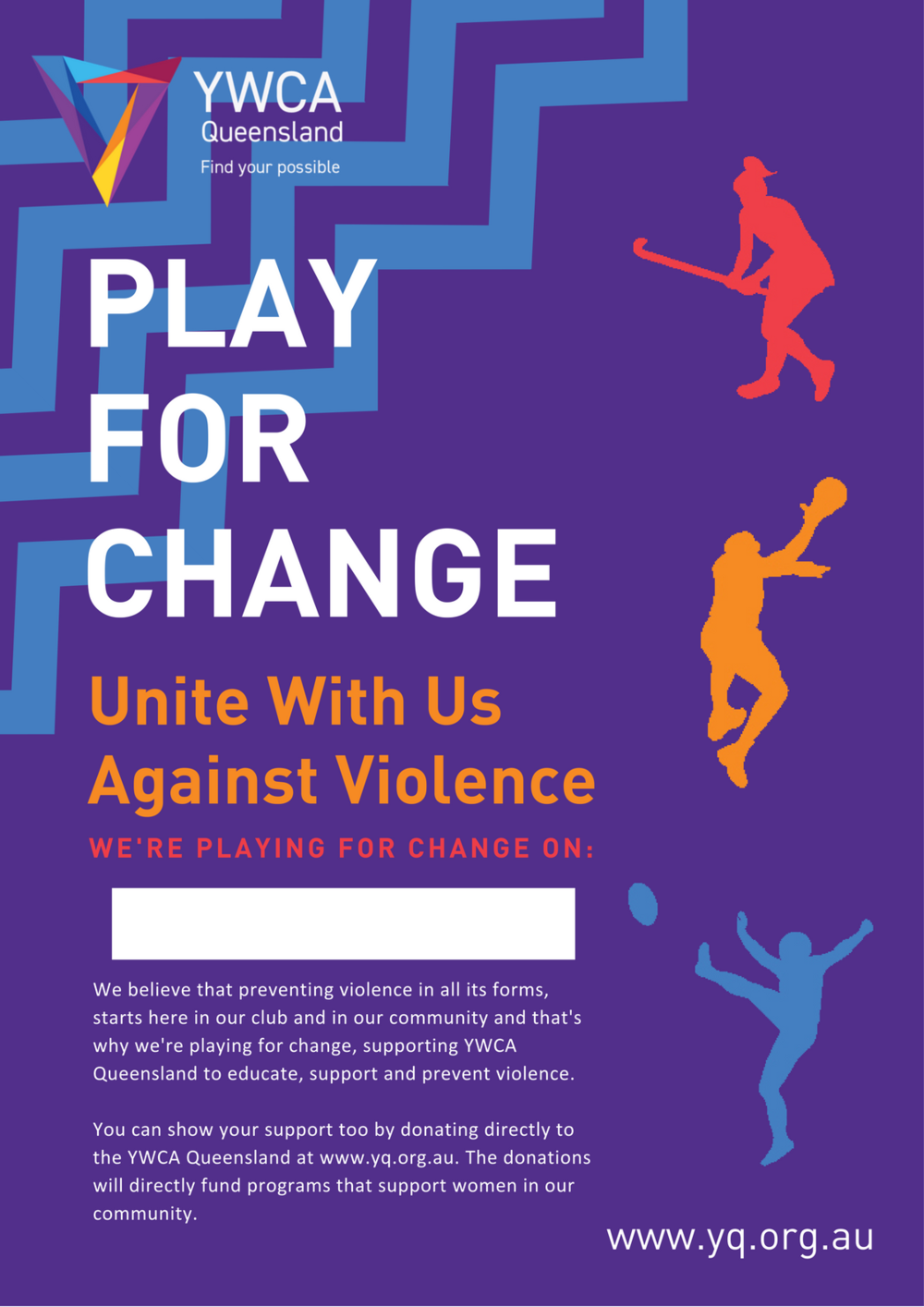 Play for Change - A3 Poster in Purple