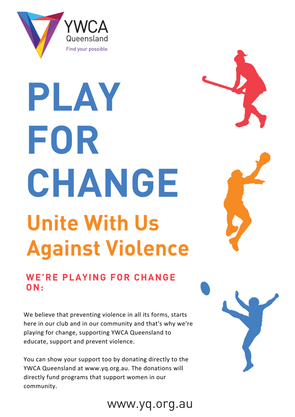 Play for Change - A3 Poster in White