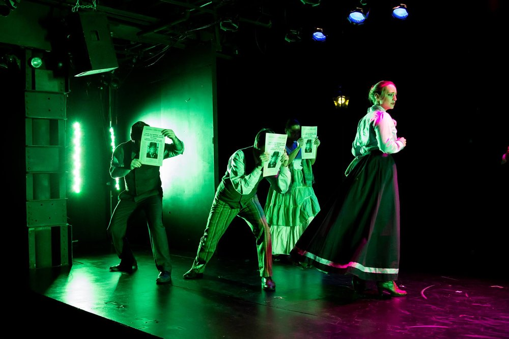 Dina Cataldi and the Cast of Ripper. Photo by Theik Smith.