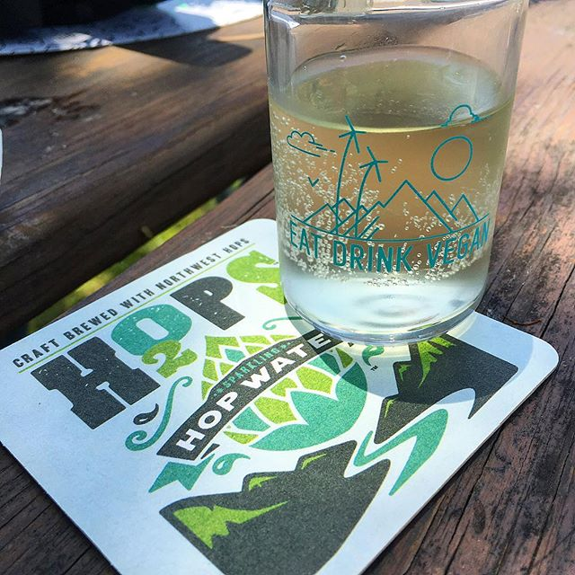 So it's water brewed with hops @h2opswater?  Stay hydrated friends. #eatdrinkvegan