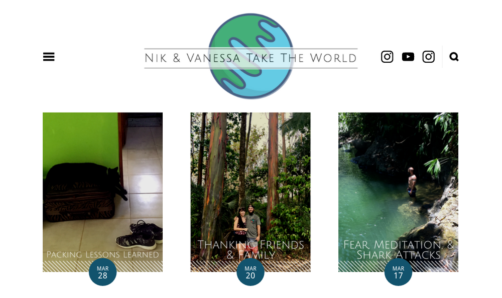 Nik and Vanessa Take the World Website