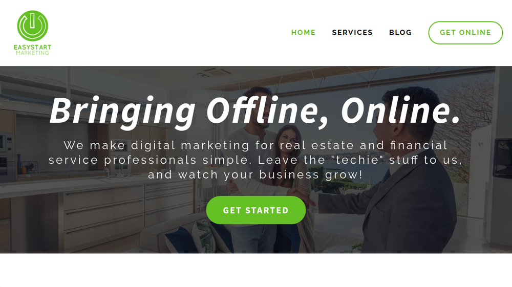 EasyStart Marketing website