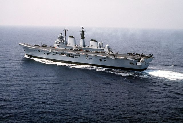 HMS Invincible. Who knew that such a fine, upstanding vessel could harbour such criminality?