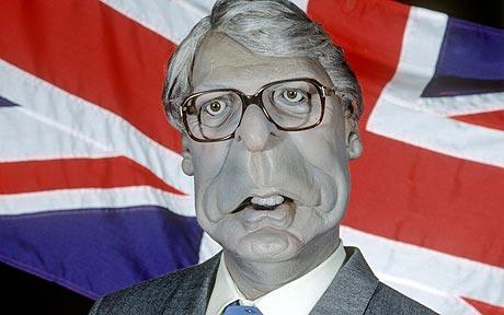 A photorealistic image of John Major, the British Prime Minister