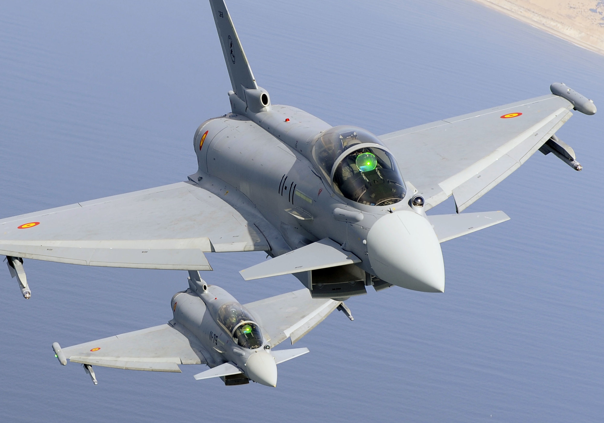 The Eurofighter Typhoon: so sophisticated and European that it's wearing a moustache.