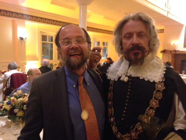 Malcolm Smuts with Mark Wallis as King Charles I at Plimoth Plantation Museum in Plymouth, Massachusetts, 24 September 2016.