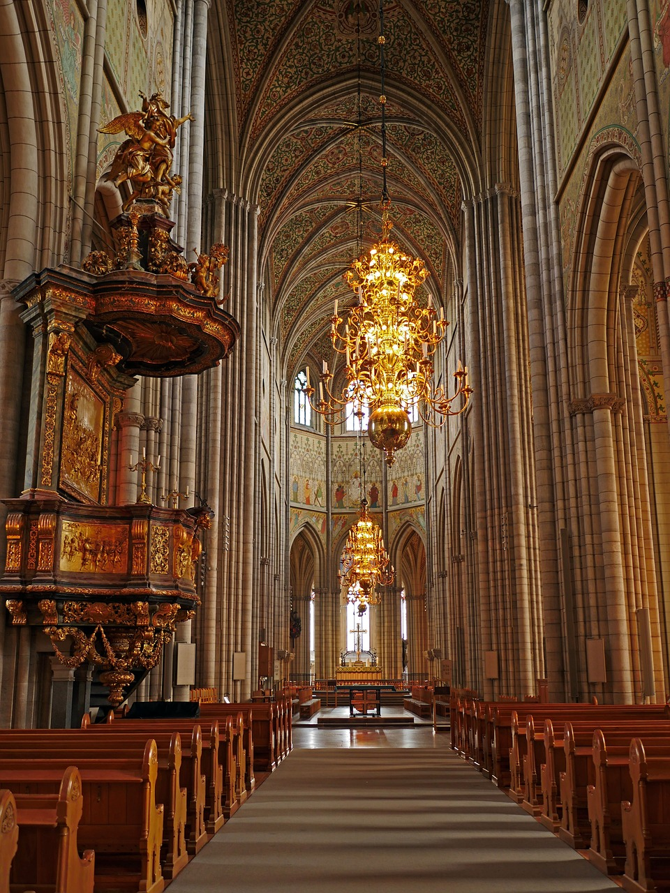 Interior of Uppsala Cathedral