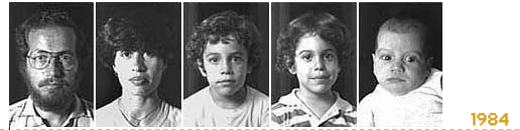 1984. Diego, Susy, Nicolas, Matias, Sebastian.