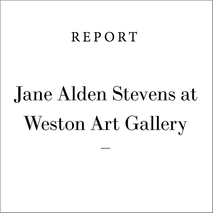 "Review of  The Thread in the River  Exhibition   REPORT  Online arts magazine, ""Jane Alden Stevens at Weston Art Gallery"", by C. M. Turner, May 29, 2017 Review of  The Thread in the River  exhibition in Cincinnati, OH"